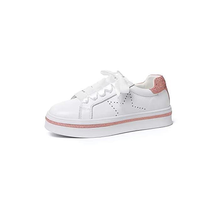 Shoeshaoge Scarpe Da Donna Primavera estate Comfort Sneakers Creepers Silver pink
