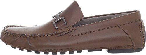 Calvin Klein Men's Dolan Pull Up Leather Slip-On Loafer, Dark Sand, 7 M US