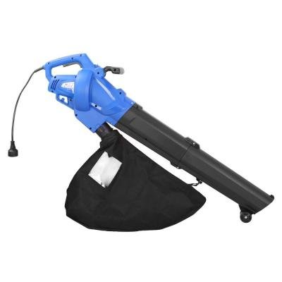 Electric Leaf Blower All-in-One Blower/Mulcher/Vacuum Featuring a Lightweight Construction, Sturdy Front Wheels and an Ergonomic Handle 12-Amp, Ideal for Outdoor Cleaning