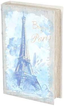 Caja Libro Decorativa de Madera y Tela Bonjour Paris. Cajas ...