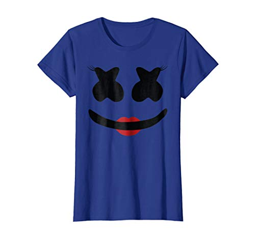 Womens Marshmellow Miss Cute And Funny Womens T-shirt, Happier -