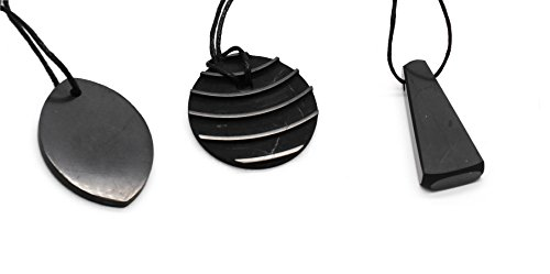 Shungite Pendant Set, 3 pieces. Highly EMF Protective Pendants and Loved By All. S007