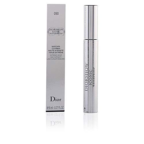 Christian Dior Diorshow Iconic Waterproof Mascara -- Extreme Wear High Intensity Lash Curler -- #090 Extreme Black 0.27 oz