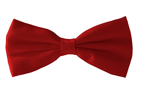 Shine Various Smart Men's Tie Fine Colours Satin Bow Tie Dickie Tie Fromal Bow Bow Red x7xHP