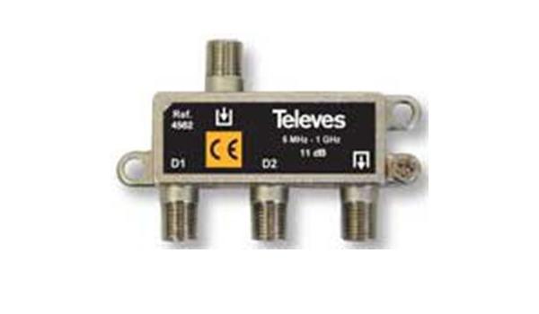 Televes 4562 - Derivador interior scatv 2 direcciónes 11db ...