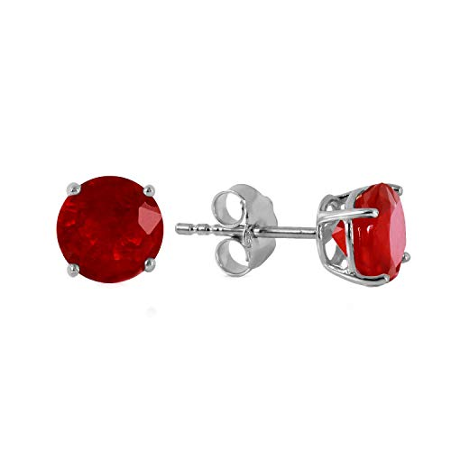 Galaxy Gold 14K White Gold Fiercely We Believed 0.95 Carat Natural Ruby ()