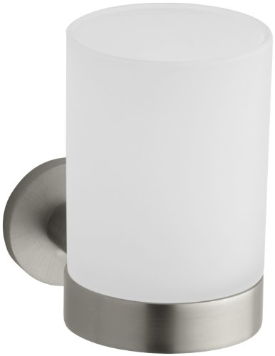 KOHLER K-14463-BN Stillness Tumbler and Holder, Vibrant Brushed Nickel by Kohler
