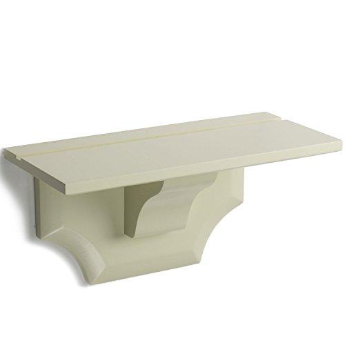 (brightmaison Crown Molding Ledge Floating Shelves Cream Color Traditional Decorative Corbel Bracket Style Shelf Durable Display Holder Showcase (Set of 1))