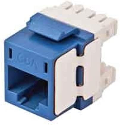 Pack 10 Blue Hubbell Premise Wiring HJ6AB 1-Port Cat 6A Universal Jack