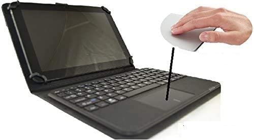 Funda con Teclado extraíble Bluetooth con Touchpad (ratón) para Tablet Bq Edison 3 10.1