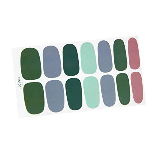lEIsr00y Nail Art 14Pcs Women Smudge Star Dot Print Nail Art Stickers Adhesive Polish Decor Decals - - 00 Stylus