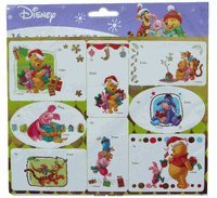 Disney Gift Tags - Disney Winnie The Pooh Gift Tags adhesive set - 24pcs peel n stick Winnie The Pooh and Friends stickers