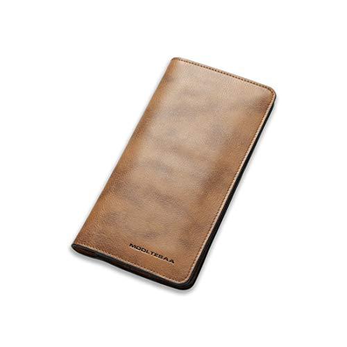 Lindanig Prima Da Di Nero Pelle Black color Marrone Brown Per In Portafoglio Uomo wraTwq