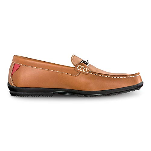 FootJoy Men's Club Casuals Buckle Loafer-Previous Season Style Brown 7.5 W Sneaker, Tan, US