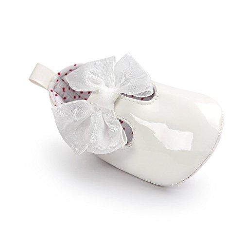 Zapatos de bebé,Auxma Zapatillas Bowknot Niña,Zapatos no deslizantes blandos para 0-18 meses Blanco