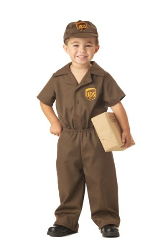 Ups Guy Halloween Costume (UPS Guy Boy's Costume, Medium (3-4),Brown)
