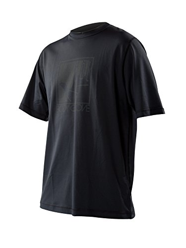 Body Glove Men's Loose Fit Short Sleeve Rash Guard Tops, Black, X-Large