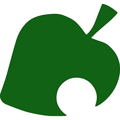 Animal Crossing New Leaf (Green) (Set of 2) Premium Waterproof Vinyl Decal Stickers for Laptop Phone Accessory Helmet Car Window Bumper Mug Tuber Cup Door Wall Decoration