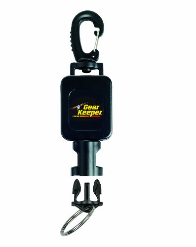 Hammerhead Industries Gear Keeper Small Scuba Flashlight Retractor RT4-5912 - Features Heavy-Duty Swiveling Snap Clip Mount with QC-II Split Ring Accessory - Made in USA