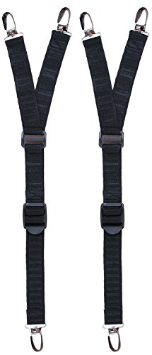 Shirt Stays Sock Suspenders - Non Slip Metal Clips  Comfortable & Durable Elastic Bands - Easy to Attach - Great for Professionals