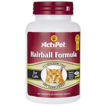 Hairball Formula ActiPet 60 Tabs ()