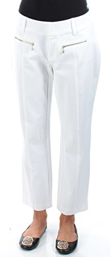 Inc International Concepts White Curvy-Fit Cropped Zip-Pocket Pants from INC International Concepts
