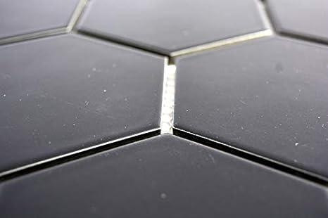 Mosaik MOS11F-0311 Carrelage hexagonal en c/éramique Noir mat