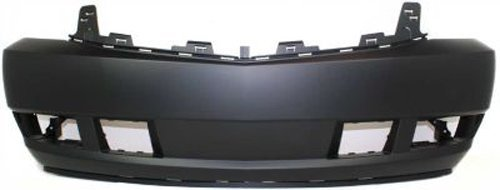 Crash Parts Plus Primed Front Bumper Cover Replacement for 2007-2014 Cadillac - Cadillac Escalade Front Cover Bumper