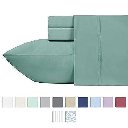 California-Design-Den-600-Thread-Count-100-Cotton-Sheets–Sage-Long-Staple-Cotton-Twin-Sheets-Fits-Mattress-Upto-17-Deep-Pocket-Sateen-Weave-Soft-Cotton-3-Piece-Bed-Sheets-Set