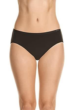 Berlei Women's Underwear Microfibre Nothing Naturals Hi-Cut Brief, Black, 10