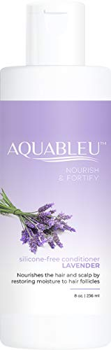 Aquableu Lavender Conditioner- Nourish, moisturize, and restore - Soothe skin for less dandruff - Organic Lavender Conditioner for shiny, healthy hair - sulfate free, paraben free, cruelty-free