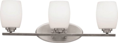 Kichler 5098NI Bath Vanity Wall Lighting Fixtures, Brushed Nickel 3-Light (24