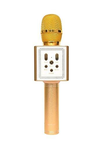 Sonilex BS 189 Bluetooth Portable Wireless Handheld Mic with Speaker Audio Record  Golden