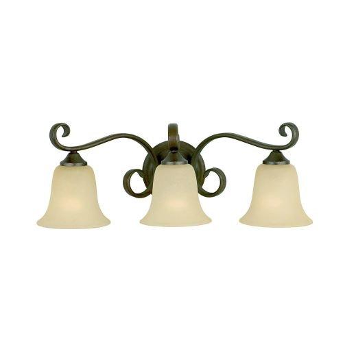 Murray Feiss VS10403-CB, Vista 3-Light Vanity Fixture, Corinthian Bronze (Pendants Corinthian Bronze Finish)