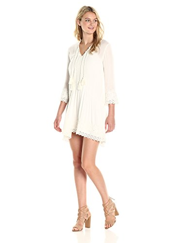 Connection Women's White Dress Crinkle Daisy Mindy French 08qxFP11