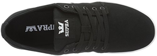 Stacks Black Supra Basses Ii Noir Sneakers White mixte adulte Bkw adwdSrq0
