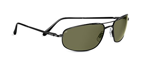 Serengeti Velocity Sunglasses (Shiny Gunmetal 555nm (Gunmetal Polarized Shades)