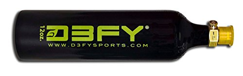D3FY Aluminum CO2 Tank For Paintball Marker Gun, 12 oz, Black