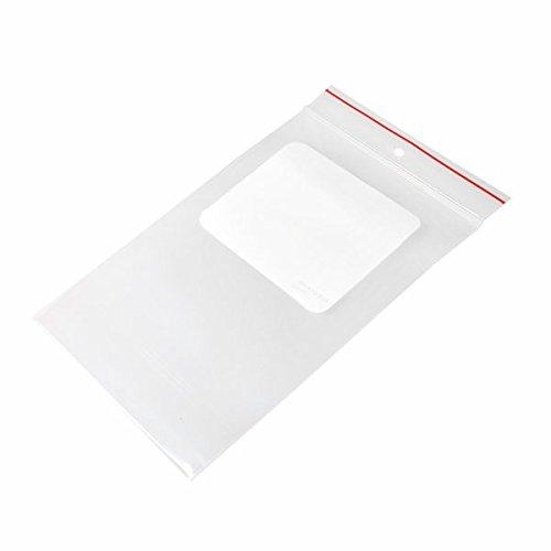 (Minigrip Red Line MGRL4WH0406 Polyethylene (LDPE/LLDPE Blend) Clear Reclosable Bag, Hang Hole, 6