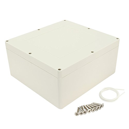uxcell 12'x11'x5.5'(300mmx280mmx140mm) ABS Junction Box Universal Electric Project Enclosure