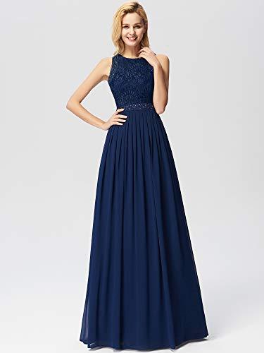 pretty Abito Da Ballo Matrimonio Ever Donna Navy 07391 Vestito Cerimonia Sera Lungo Blu dfRnYq