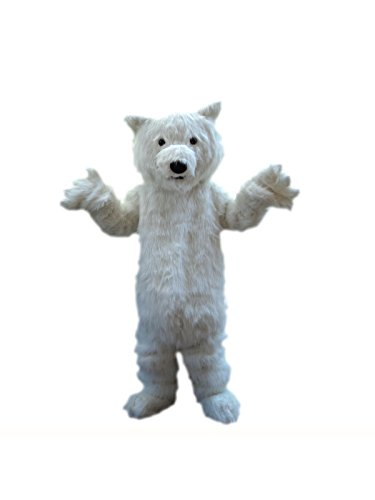Sinoocean Polar Bear Adult Mascot Costume Fancy Dress Cosplay Outfit -
