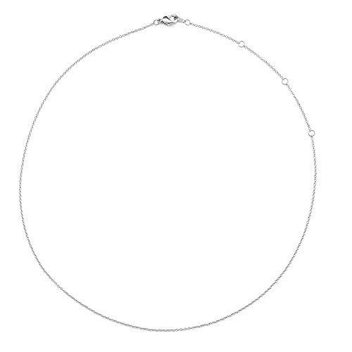 HONEYCAT Silver Thin Chain Adjustable Choker | 13