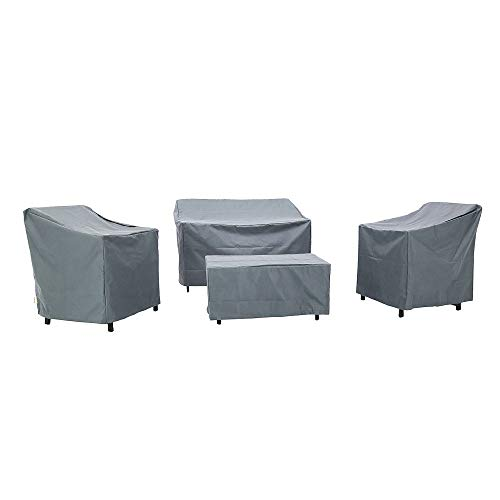 Baner Garden N82 4-Piece Outdoor Veranda Patio Garden Furniture Cover Set with Durable and Water Resistant Fabric