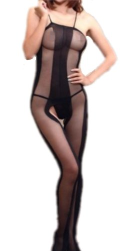 Sexy Women Full Body Open Crotch Lingerie Tights Pantyhos...