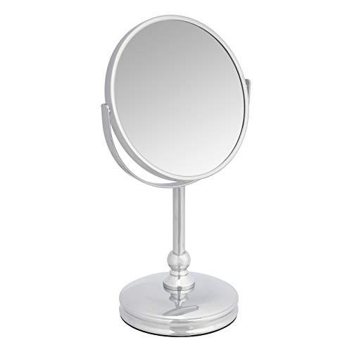 Amazon Basics Vanity Mirror with Heavy Base – 1X/5X Magnification, Chrome