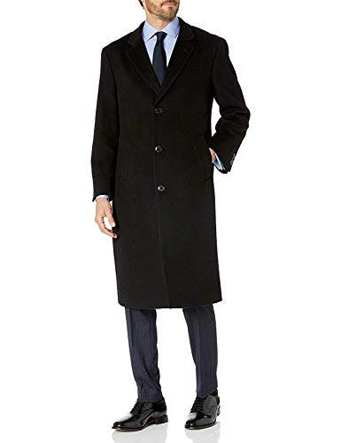 Adam Baker Men's Single Breasted Wool Cashmere Full Length Topcoat - Colors