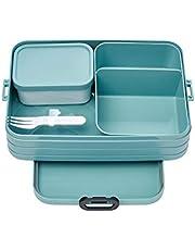 Mepal Bento-lunchbox Take A Break Nordic Green Large – broodtrommel met vakken, geschikt voor maximaal 8 boterhammen, TPE/PP/ABs, 0 mm