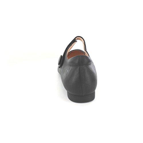 Think! Women's Guad_282280 Ankle Strap Ballet Flats Black 1ZB6n2