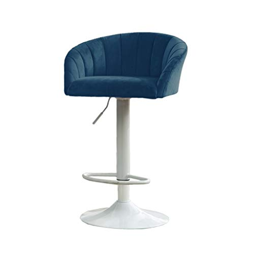 ch-AIR Bar Chairs,Salon Spa Equipment Equipment Hairdresser Furnishings Modern Simple Backrest Lift Rotation High Stools Front Desk Cash Register Bar Chair (Color : B)
